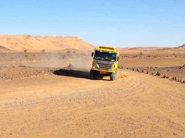 ScaniaAfricaEcoRace2013Stage2Post